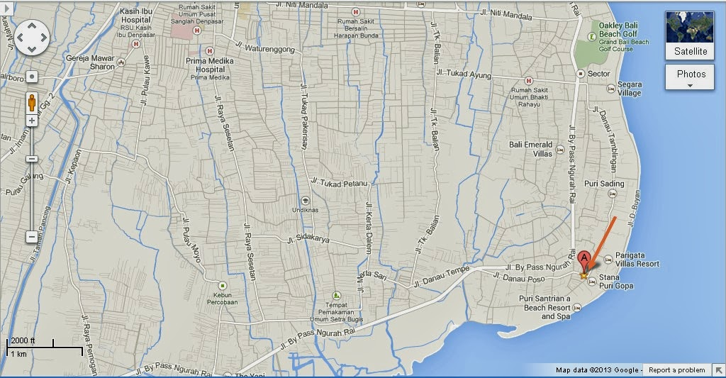 Nogo Bali Ikat Center Location Map,Location Map of Nogo Bali Ikat