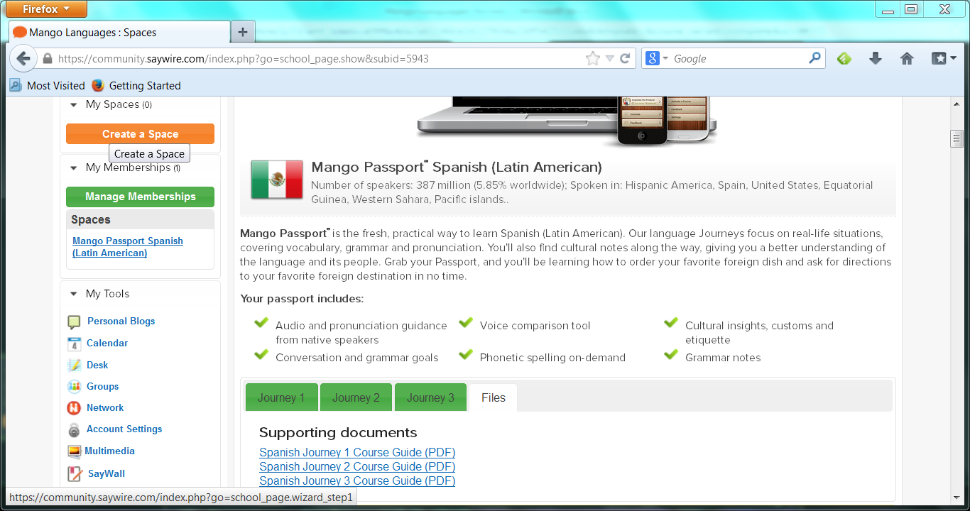 Mango Languages Spanish (Latin American)