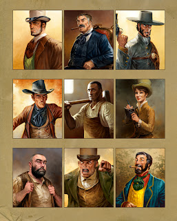 lukas thelin, western, rpg, art, characters