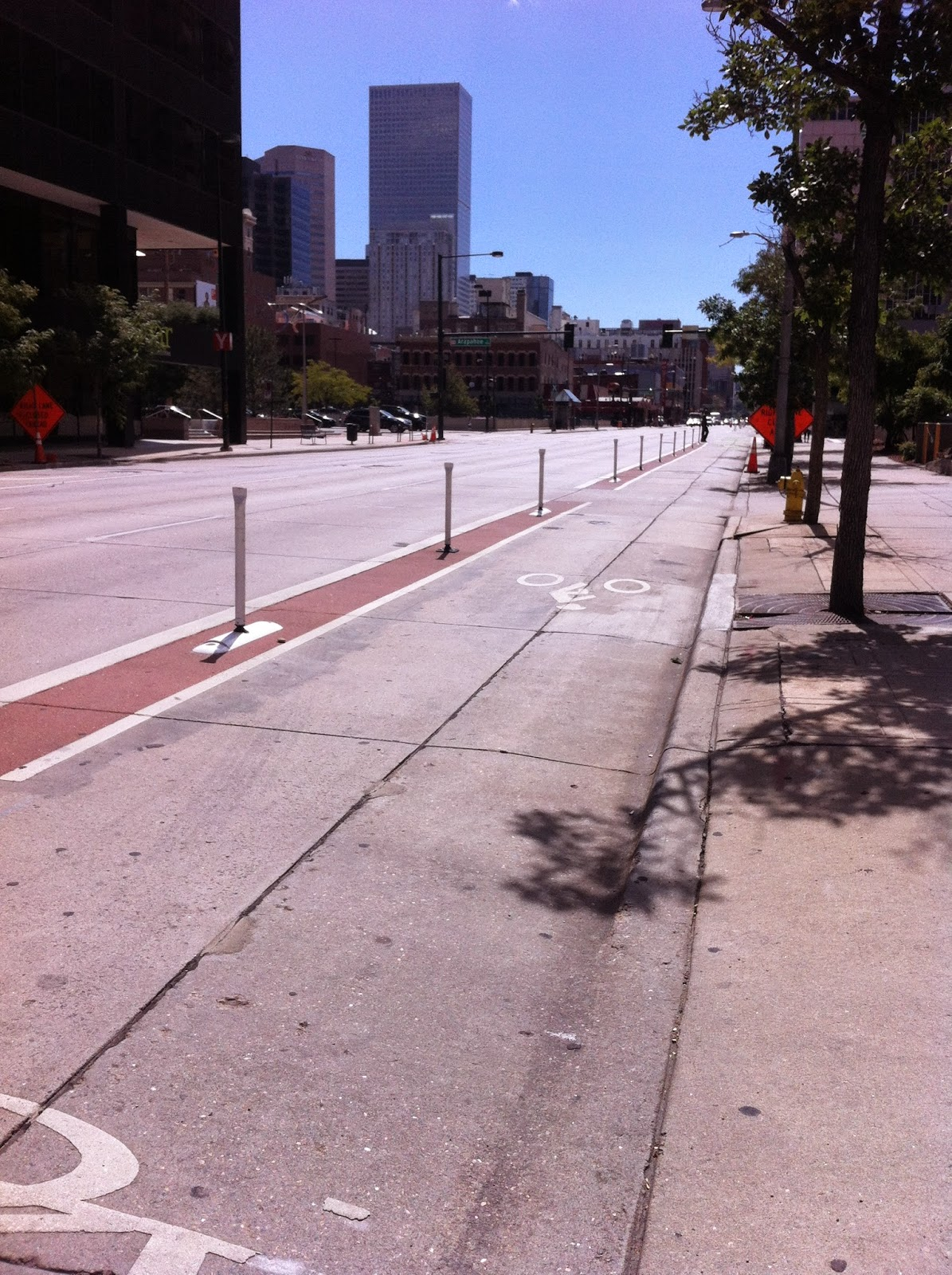 15th St protected bike lane