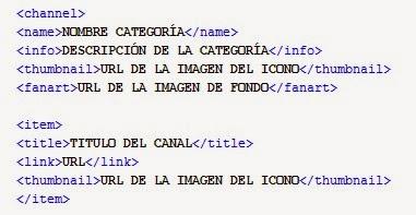 Muestra Lista XML en XBMC