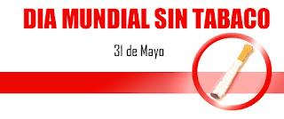 El día mundial sin tabaco se lo celebra todos los años el 31 mayo