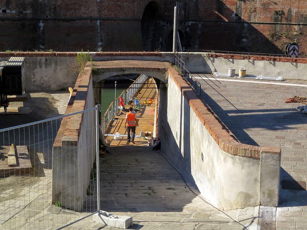 New footbridge, Fortezza Vecchia, Livorno