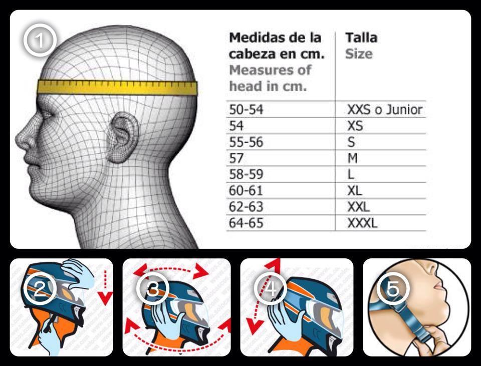 Medidas de los cascos
