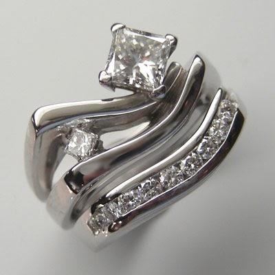 two golden rings unique wedding ring sets unique