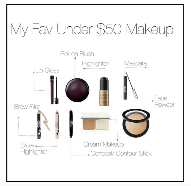 How much do you spend on makeup? | MY FAVORITE UNDER $50 MAKEUP | August Budget