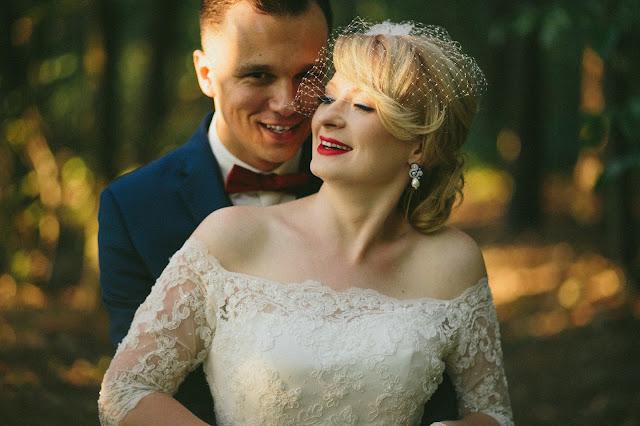 Sutasz ślubny - komplet z perłami