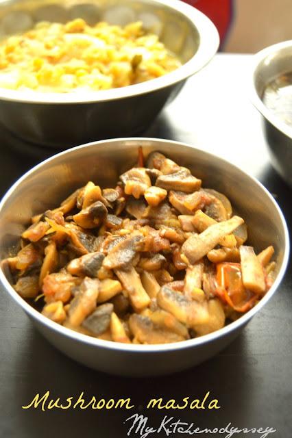 mushroom masala recipe3