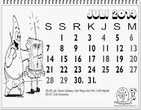 kalender indonesia 2014 untuk anak juli