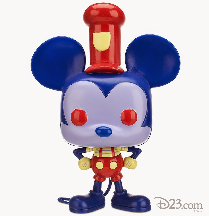 "9"" Red/Blue Steamboat Willie Funko Pop!"