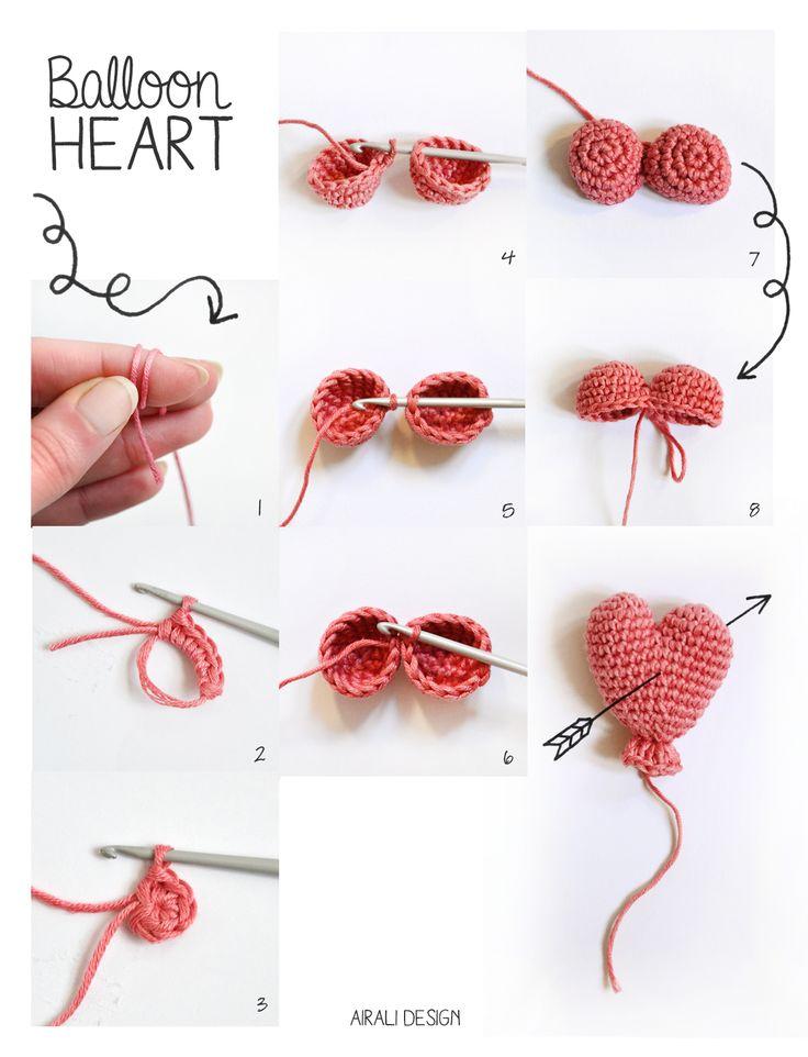 Cómo tejer al crochet corazón \