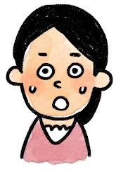 女性の表情のイラスト(驚き)