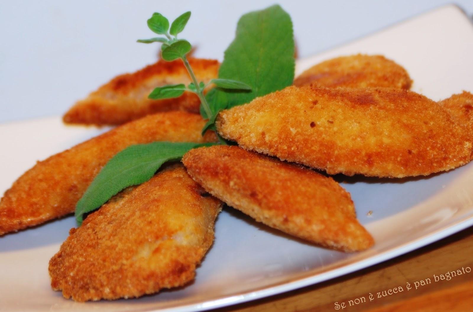 Sofficini fatti in casa farciti con mozzarella e - Faretti in casa ...