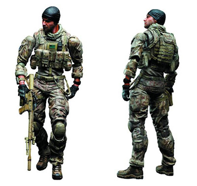 "Square Enix Play Arts Medal of Honor Warfighter ""Preacher"" figure"
