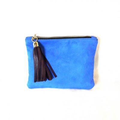 boticca clutch, electric blue clutch,