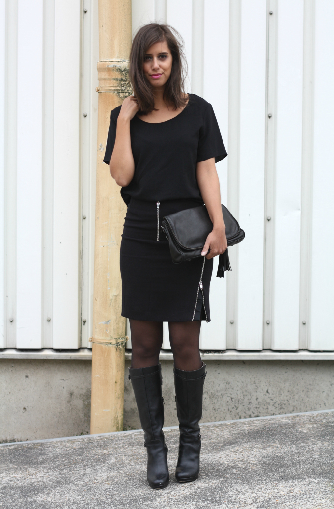 brilliant outfits with black knee boots top