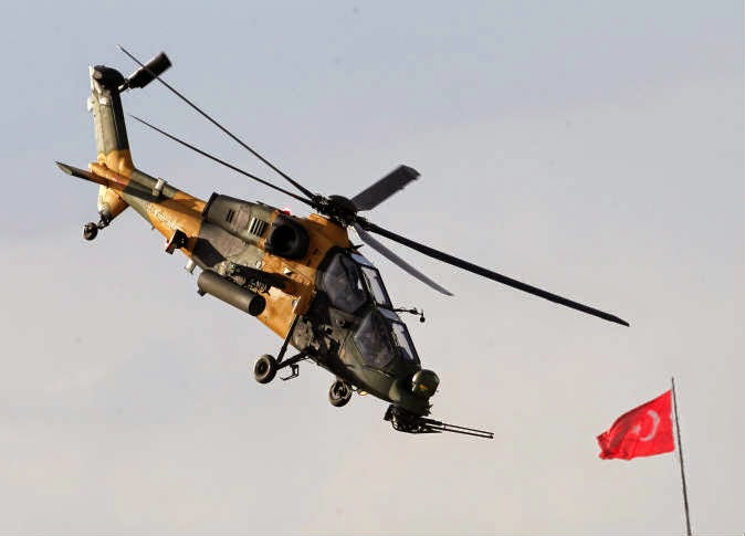 foto Helikopter Tempur T-129 buatan Turki