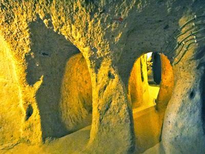 Inside the underground city of Kaymakli Cappadocia Turkey