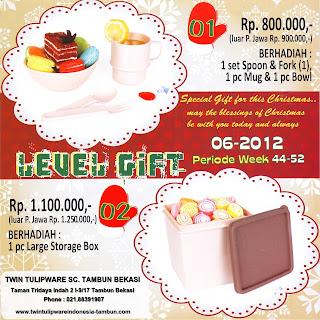 Level Gift Tulipware | Nopember-Desember 2012