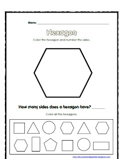Printables Hexagon Worksheets hexagon worksheet davezan lil country librarian what the is that shape hexagon