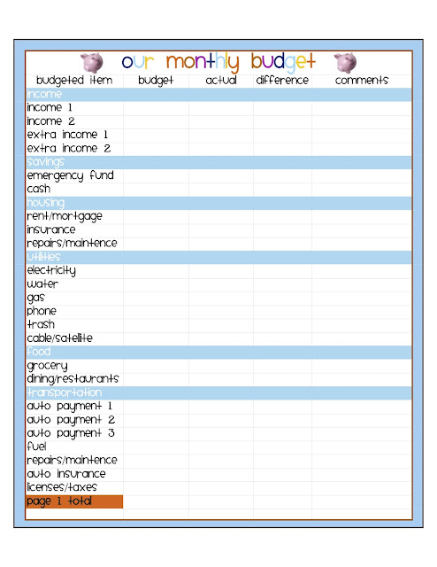 494 x 640 jpeg 69kB, Simple Budget Template Printable Monthly budget ...