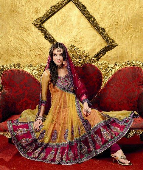 latest pakistani frocks designs