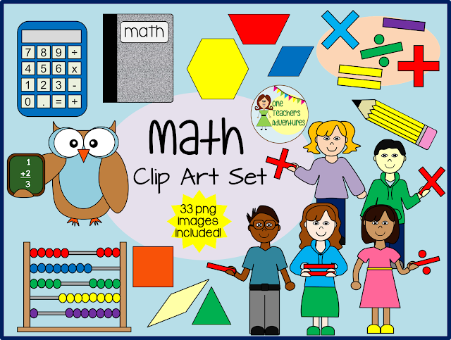 https://www.teacherspayteachers.com/Product/Math-Clip-Art-33-images-for-personal-or-commercial-use-2062899