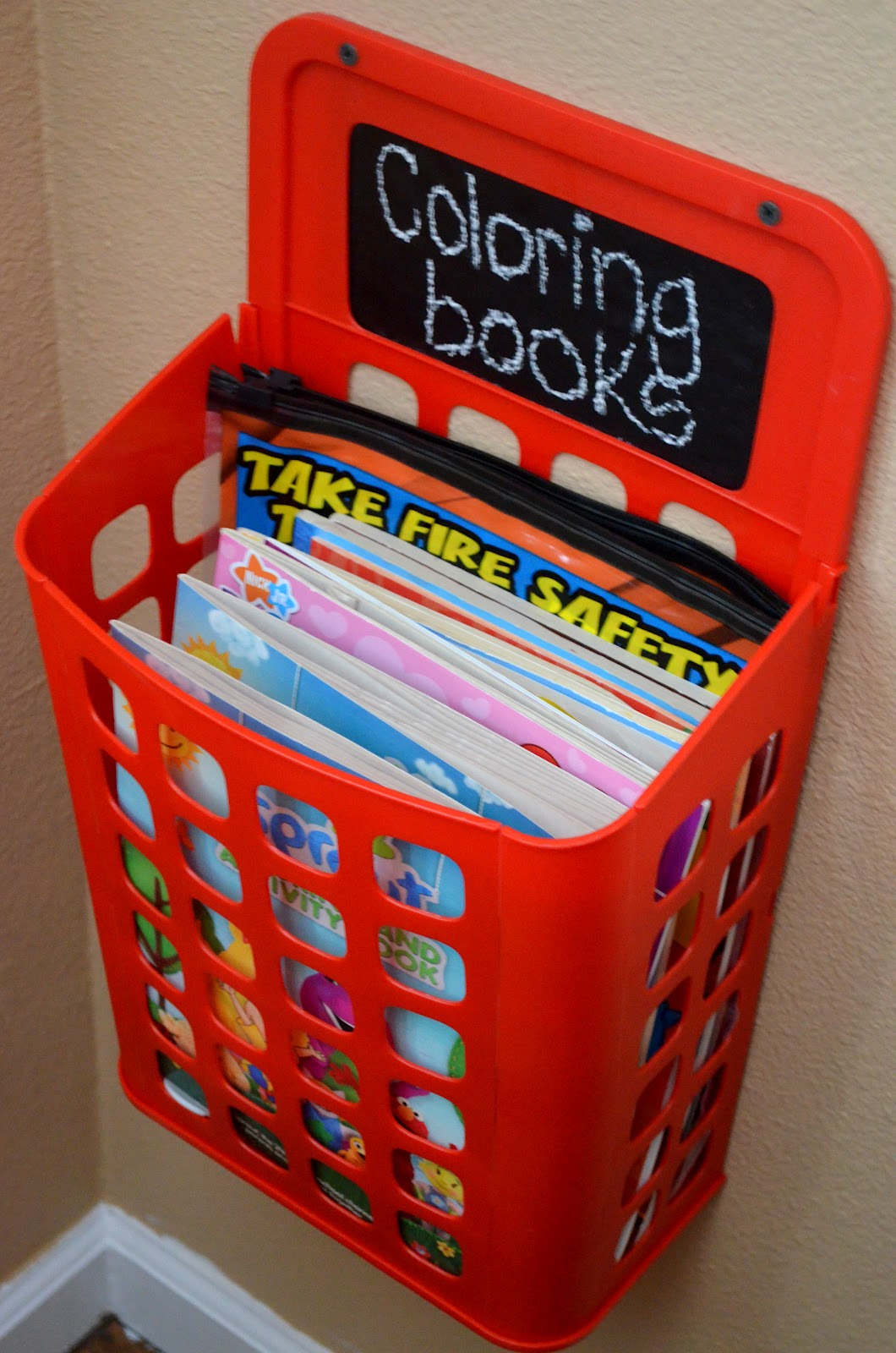 Our New Playroom Tour Organizing The Kid Clutter IKEA Garbage Bin With Cute Chalkboard Label Added To Hold Books Along Lots Of Other Great Play