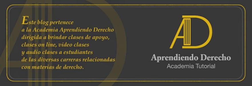 ACADEMIA TUTORIAL APRENDIENDO DERECHO