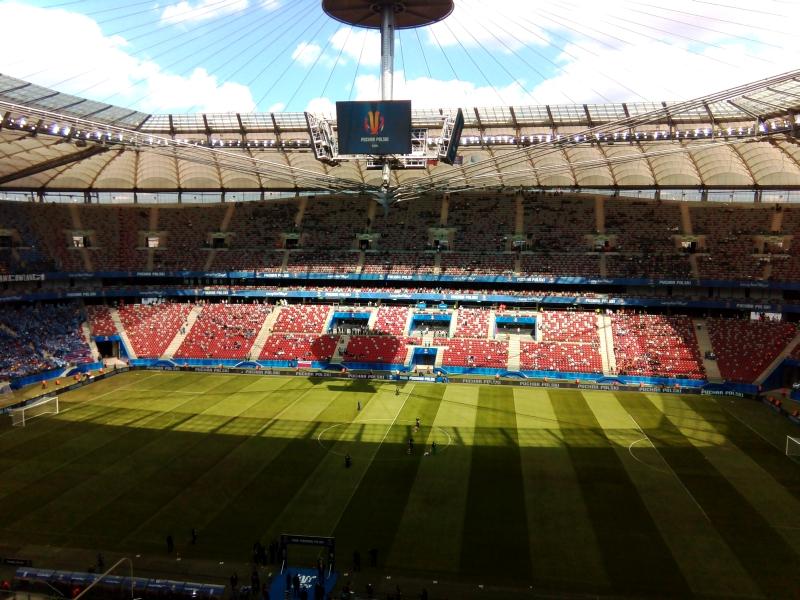 Stadion Narodowy przed finałe Pucharu Polski - fot. Tomasz Janus / sportnaukowo.pl