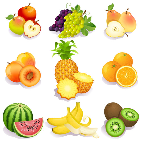 Free Fresh fruits vector icons Download