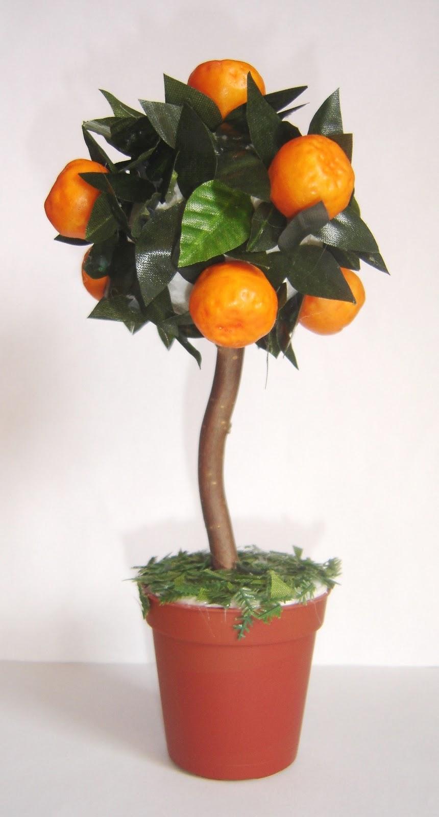 Декоративное мандариновое дерево своими руками 23