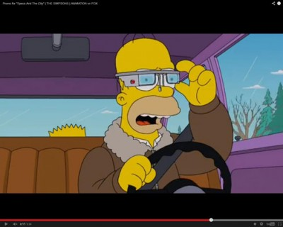Google Sisipkan Promosi Google Glass di Kartun The Simpson
