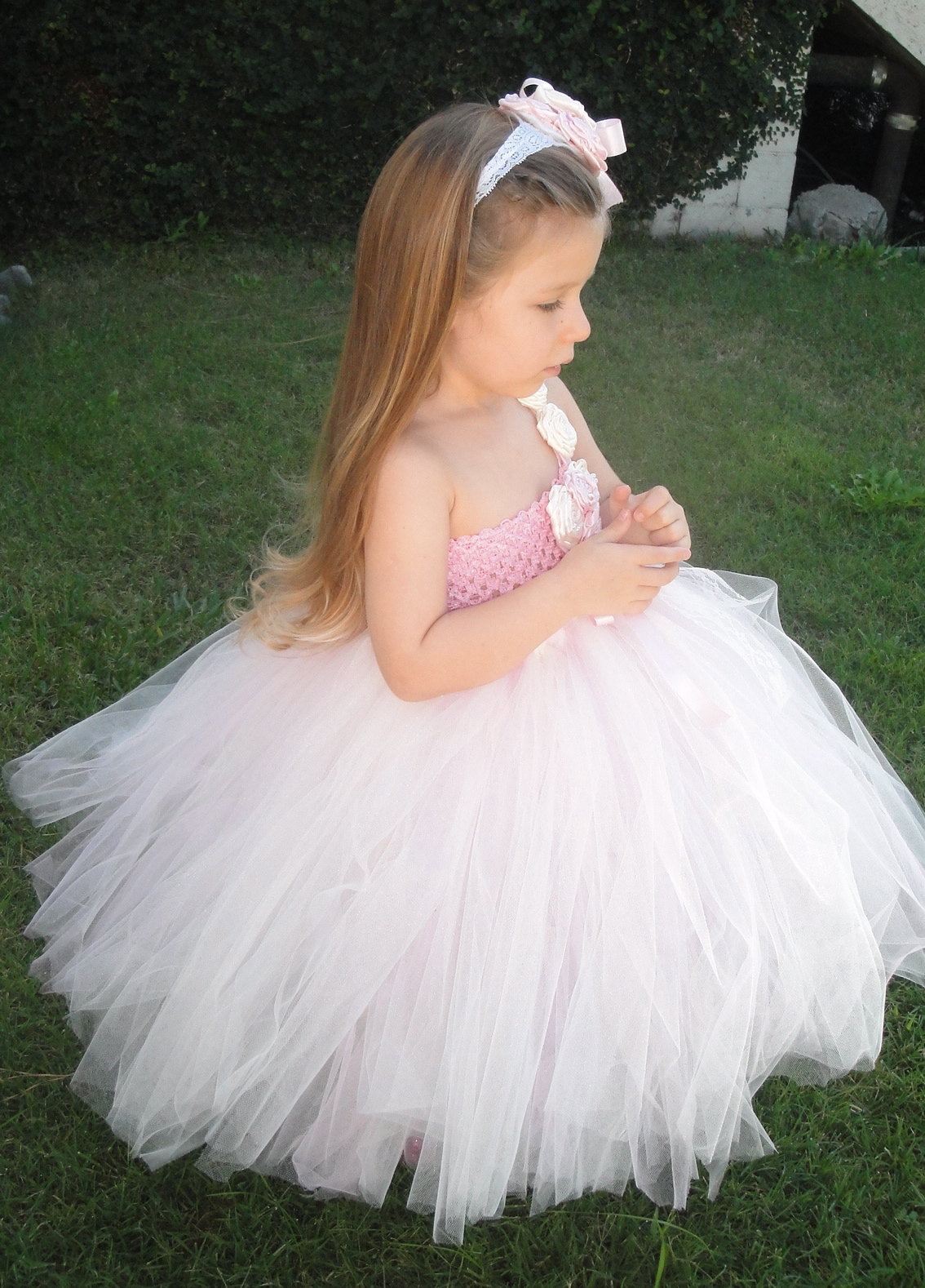 Vintage baby wedding dress flower girl tutu dresses for Flower girls wedding dress