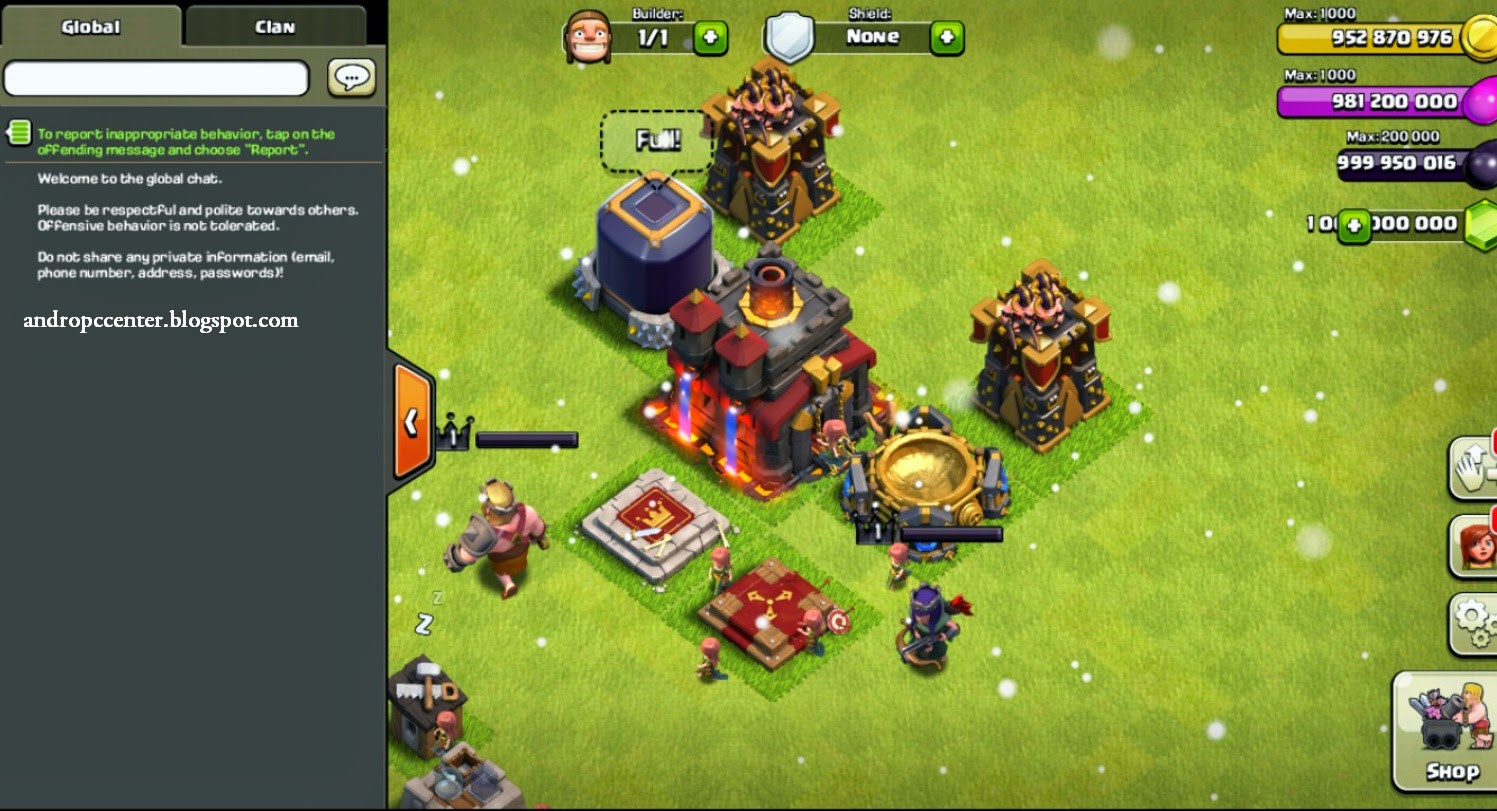 Clash Of Clans apk v6.407 [MOD] - AndroPC Center