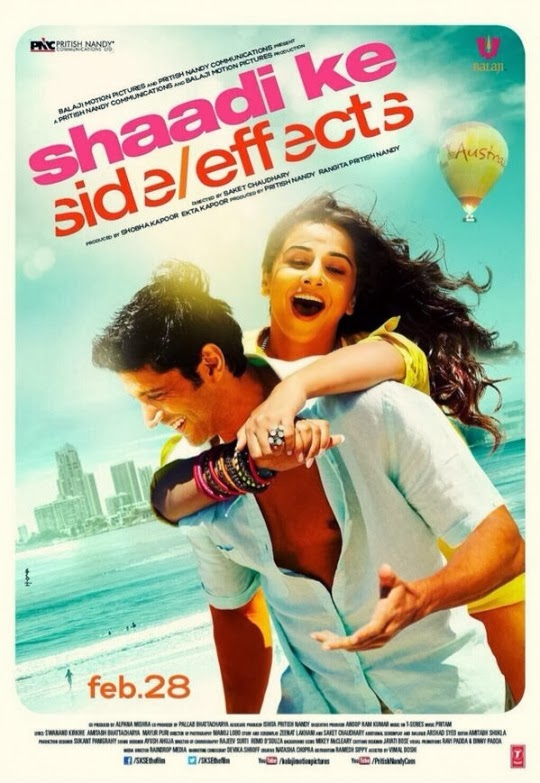 Shaadi Ke Side Effects First Look Poster - Farhan Akhtar, Vidya Balan