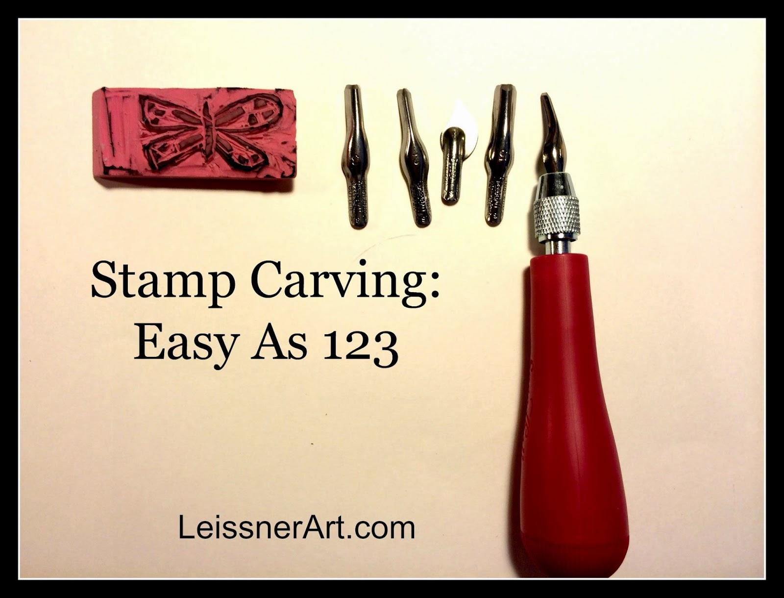 Leissnerart: super easy stamp carving