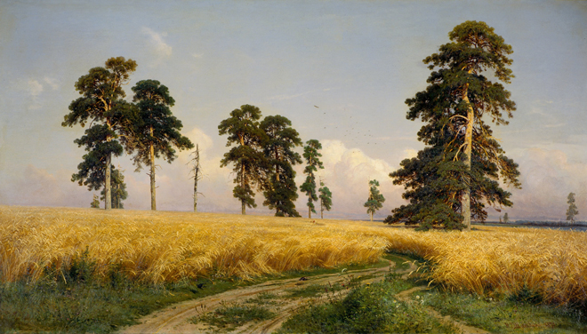 The Flying Clubhouse: Shishkin's Forest // Rye, 1878