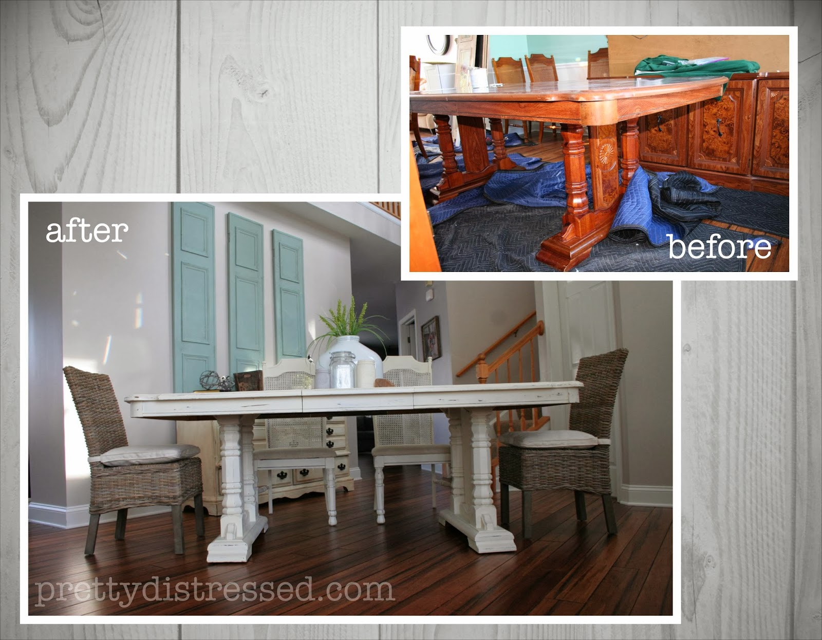 Pretty Distressed Eleanors Table Before amp After