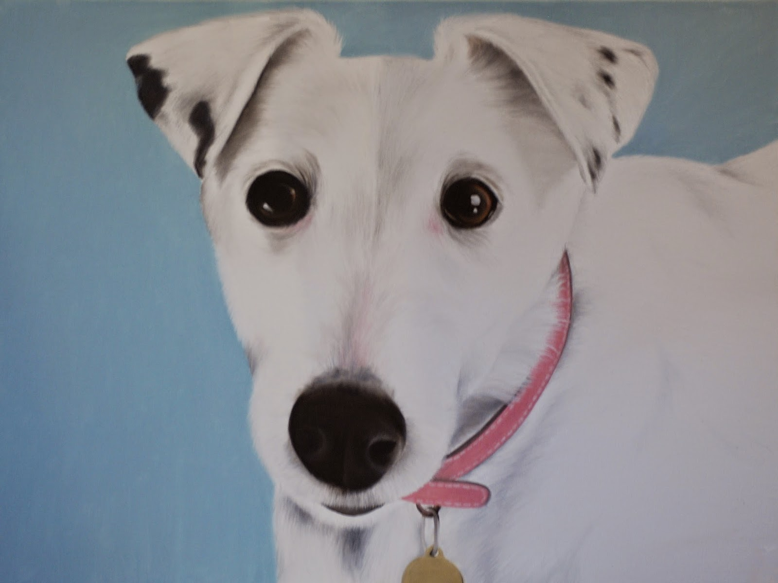 Pet Portrait Fox Terrier oil on canvas