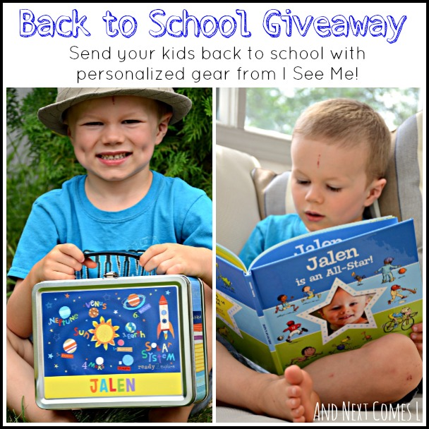 Send your kids back to school in style with a personalized I See Me prize pack worth $75! from And Next Comes L #giveaway #backtoschool