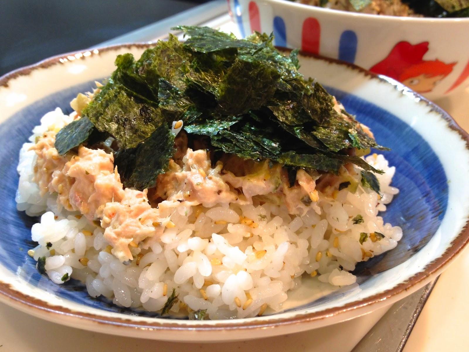 A vos baguettes recette japonaise donburi bol de sushi au thon - Confiture de nefles du japon ...