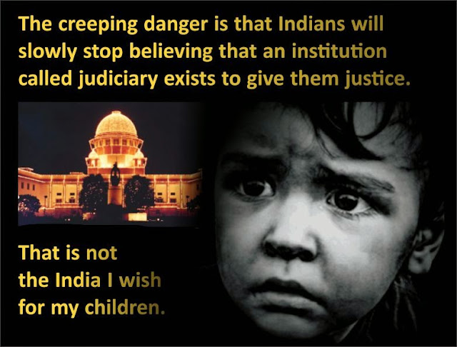 Tareekh pe tareekh and arbitrary judgments are like knives being stabbed into the collective heart of Indians. In the face of this treachery with India -- the India that belongs to our children -- how can we remain silent?