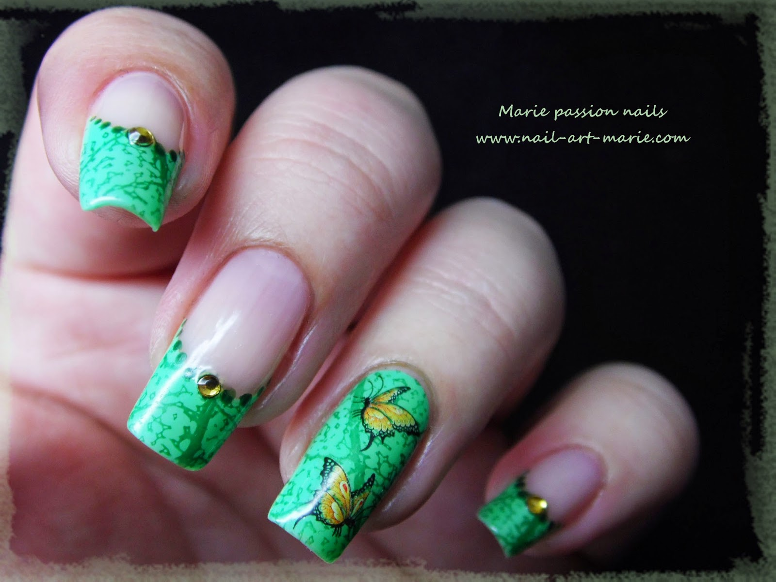 Nail art French nature4