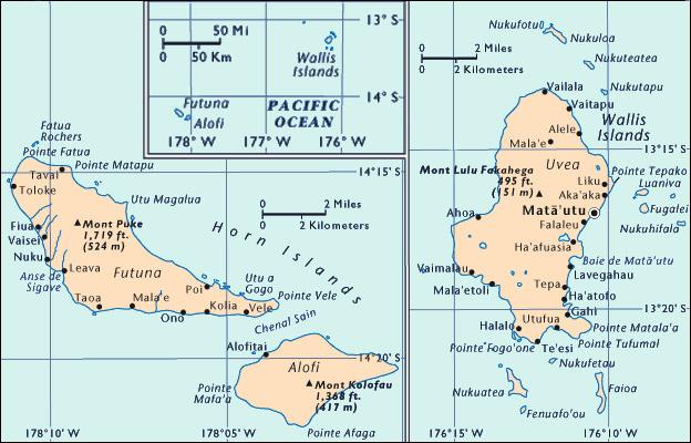 MAPS OF WALLIS AND FUTUNA FRANCE FIJI PRESS Matanitu TuVaka