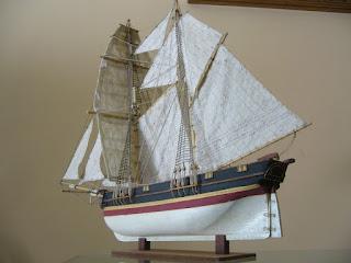 maqueta del barco mercante de las indias orientales santa helena