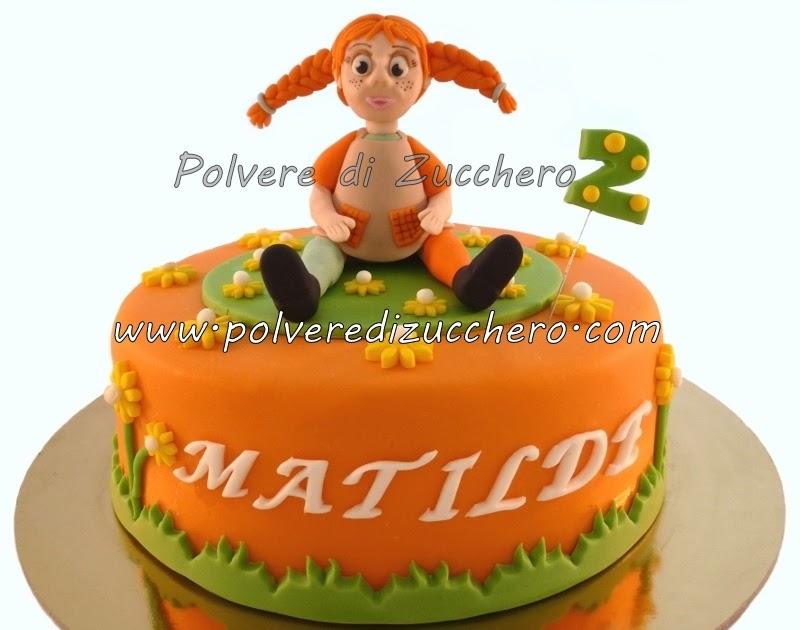 Torta pippi calze lunghe polvere di zucchero cake design for Decorazione torte e cupcake