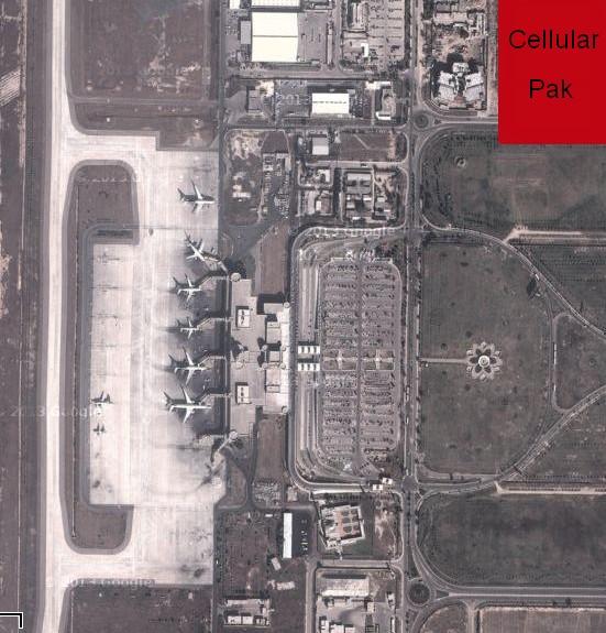 sattelite view of lahore airport