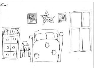 Desenho como desenhar decoração quartos pintar e colorir