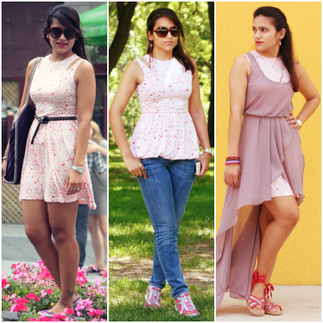 Three Ways To Style A Heart Print Skater Dress, Tanvii.com